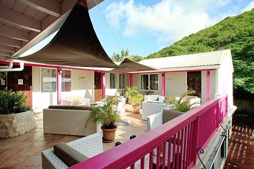 terrasse hevea hotel saint martin