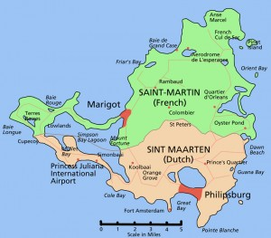 st maarten map with SXM Loc St Maarten car rental in Sint Maarten island