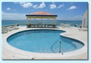 beach side villas swimming pool st maarten car rental by SXM Loc